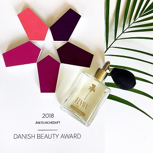 RAAW by Trice Perfume Wins 2018 Danish Beauty Award