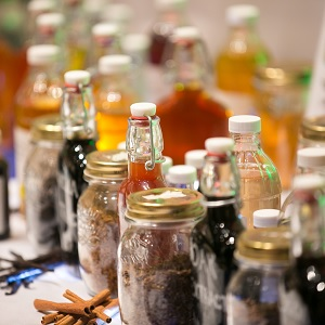 Bottles at a Flavorcon event