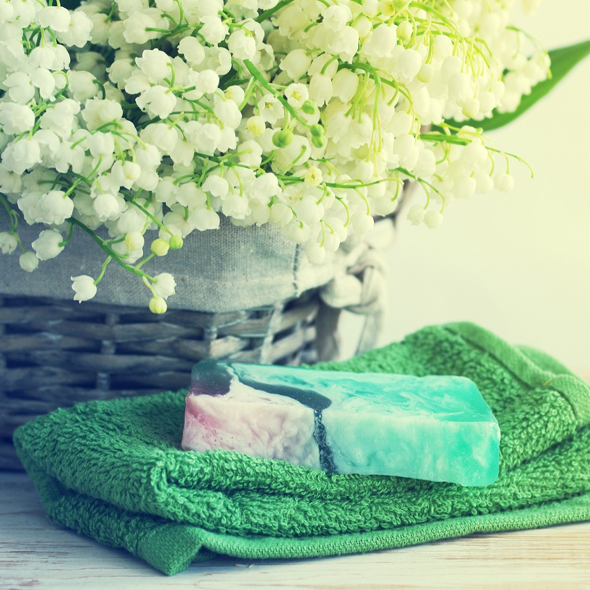 Lily of the valley and soap