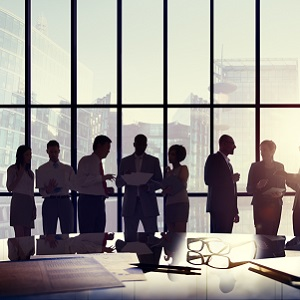 People working in a board room