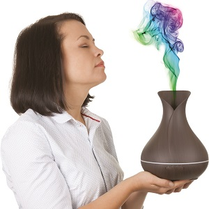 Smelling an aromatherapy device