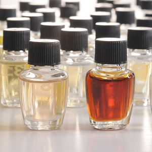Bottles of chemicals for perfume