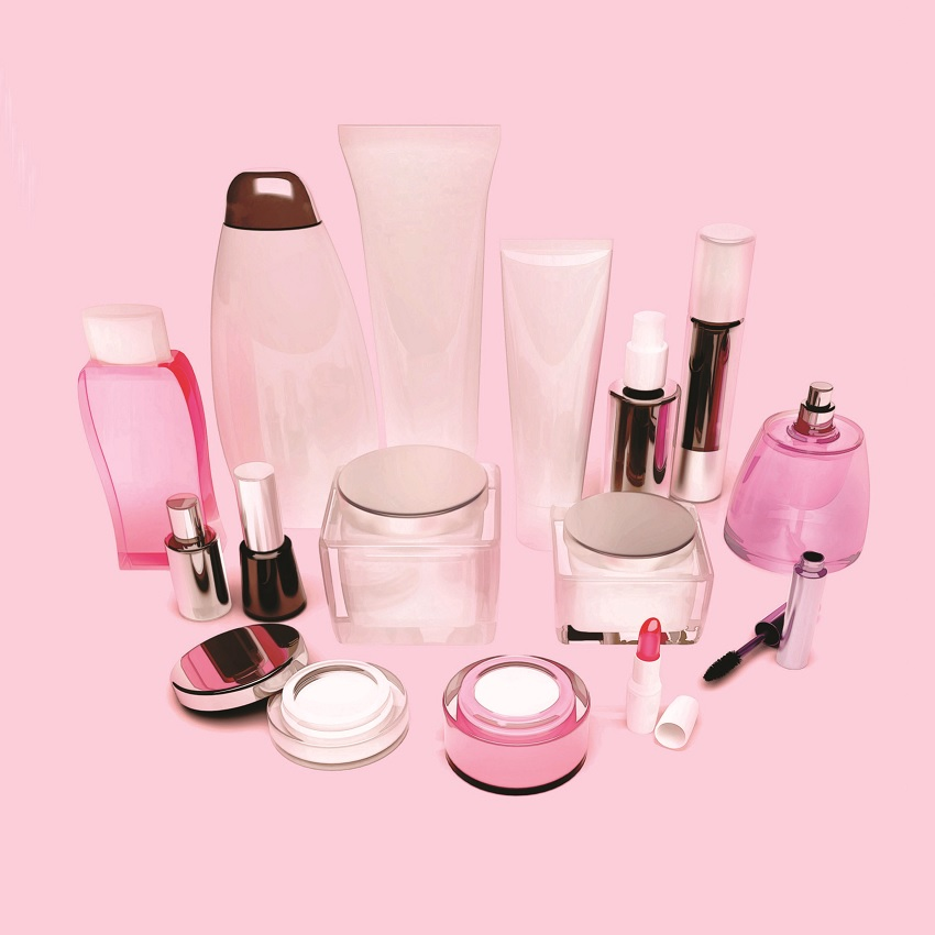 A whole bunch of cosmetic products