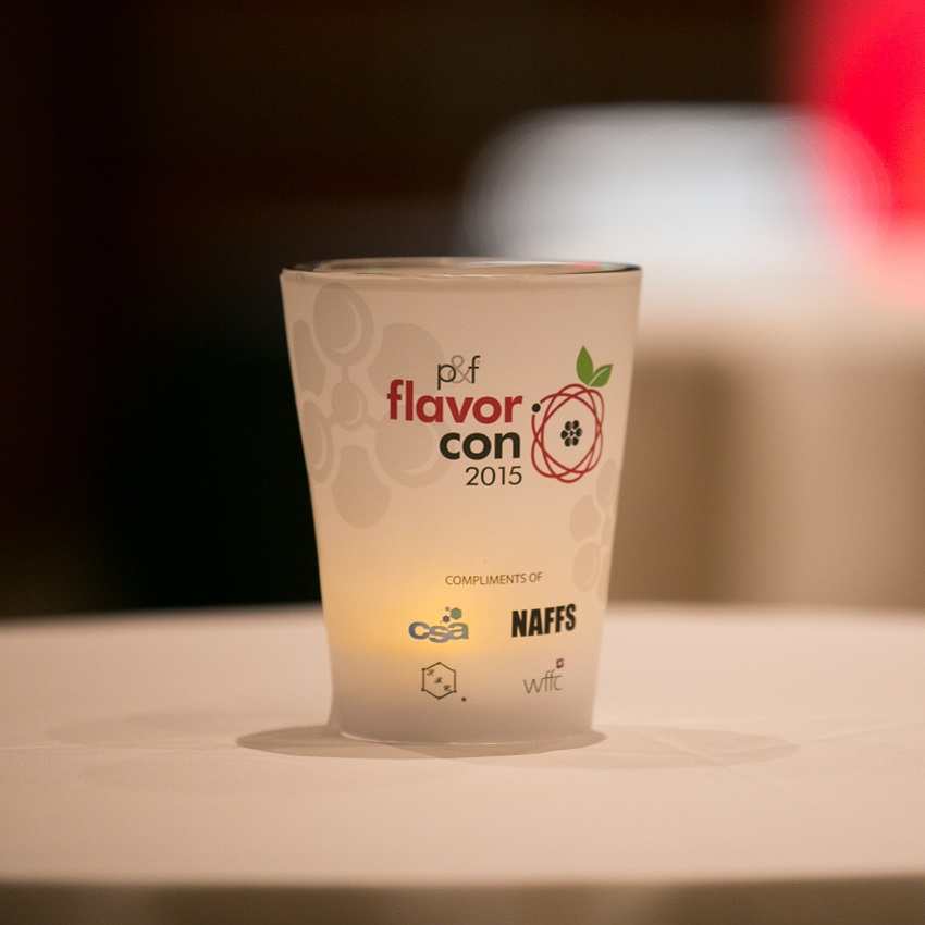 A shot glass at Flavorcon 2015
