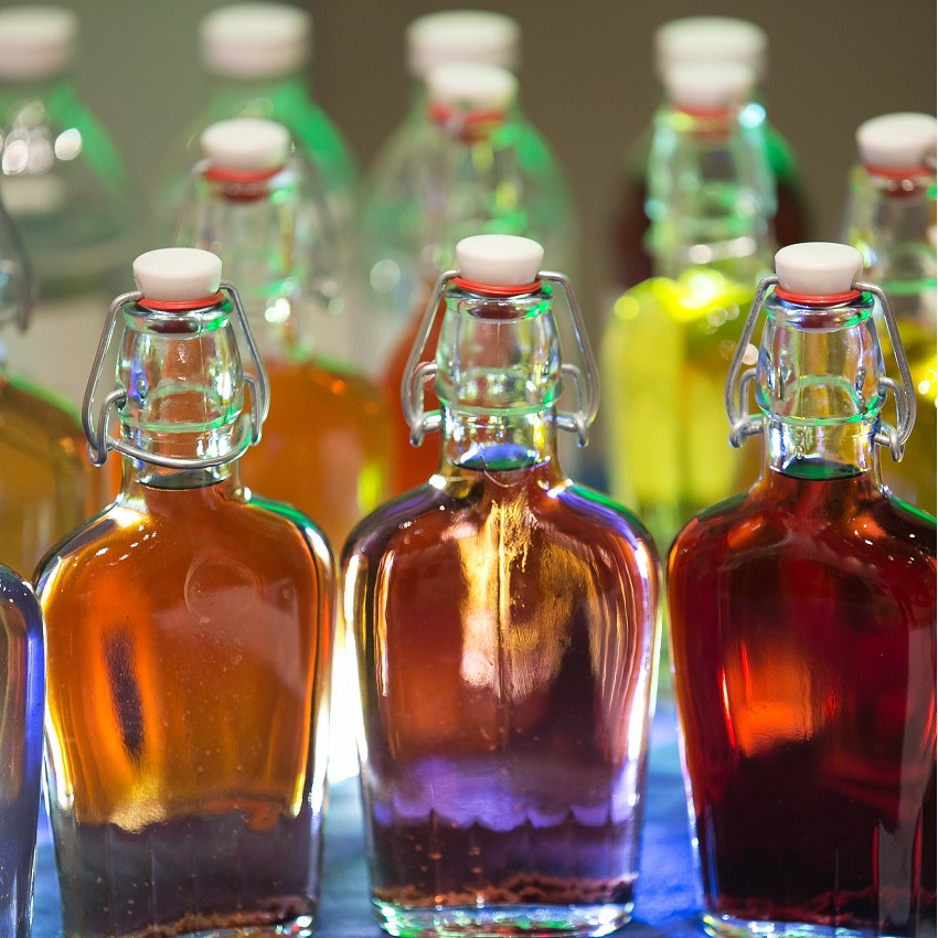Bottles of flavors at Flavorcon 2015
