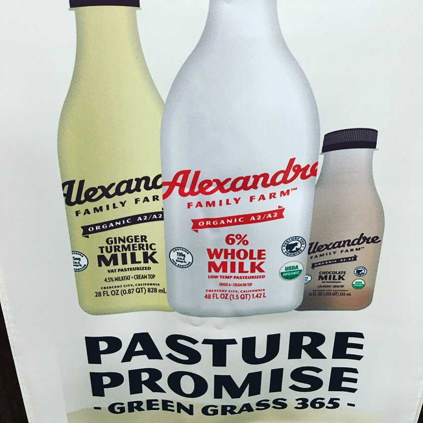Milk beverages at Natural Product Expo