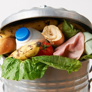 A whole bunch of food waste