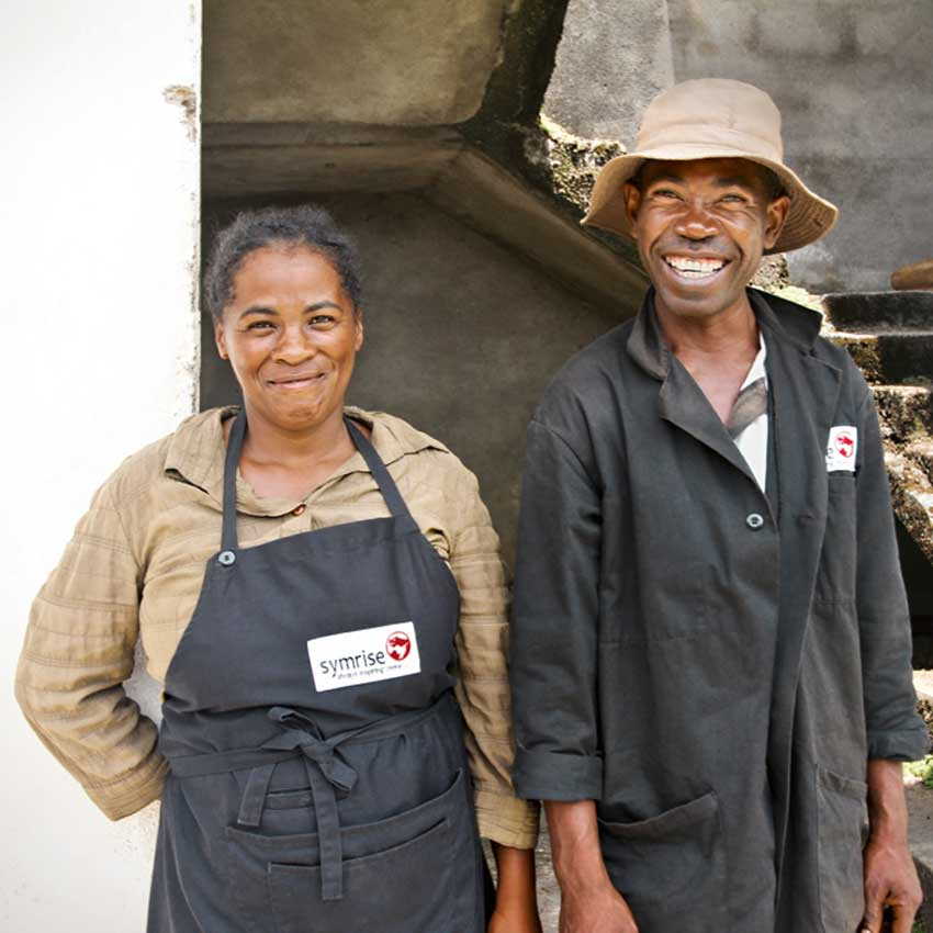 Symrise workers in Madagascar